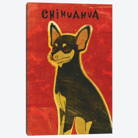 Chihuahua - Black & Tan 3-Piece Canvas #GOL55} by John Golden Canvas Print