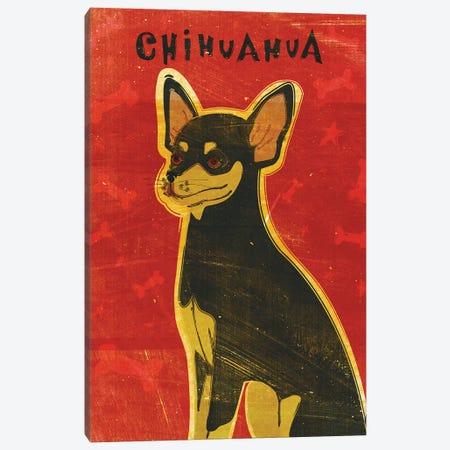 Chihuahua - Black & Tan Canvas Print #GOL55} by John Golden Canvas Print