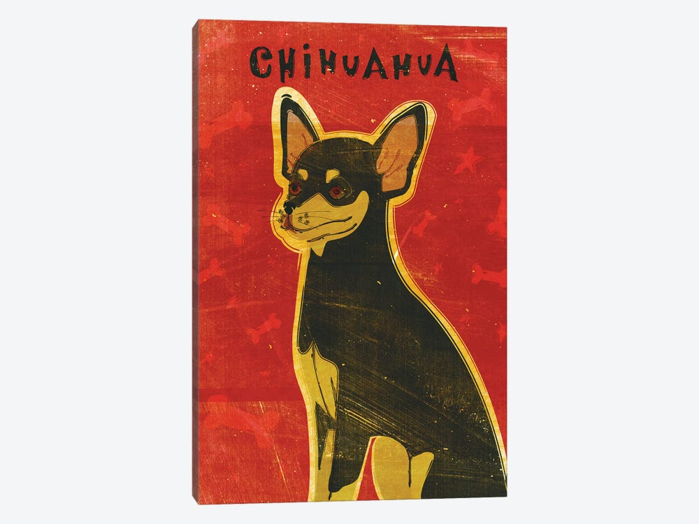 Chihuahua - Black & Tan by John Golden 1-piece Canvas Artwork