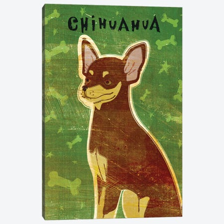 Chihuahua - Chocolate & Tan Canvas Print #GOL57} by John Golden Canvas Art Print