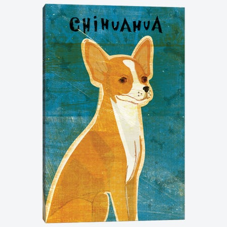 Chihuahua - Red 3-Piece Canvas #GOL58} by John Golden Canvas Wall Art