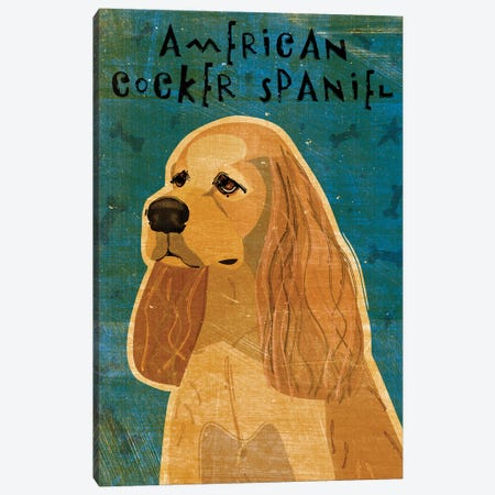 American Cocker Spaniel - Buff 3-Piece Canvas #GOL5} by John Golden Canvas Art