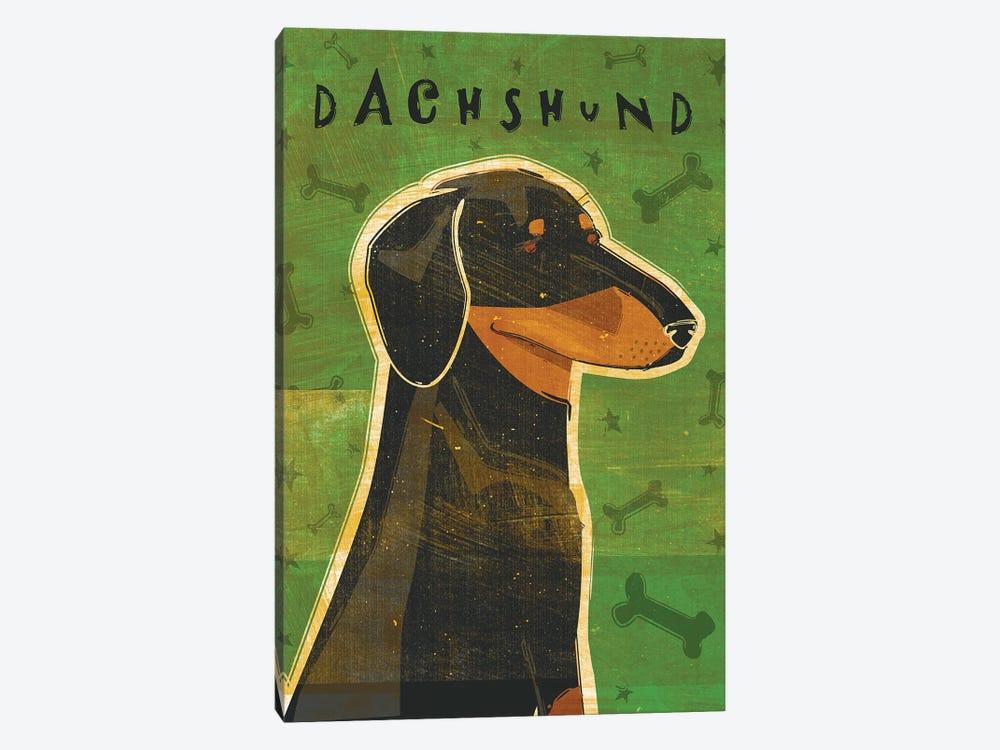 Dachshund - Black & Tan by John Golden 1-piece Canvas Wall Art
