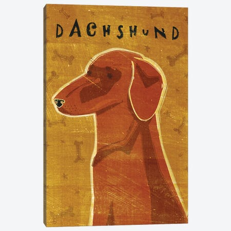 Dachshund - Red Canvas Print #GOL65} by John Golden Canvas Wall Art