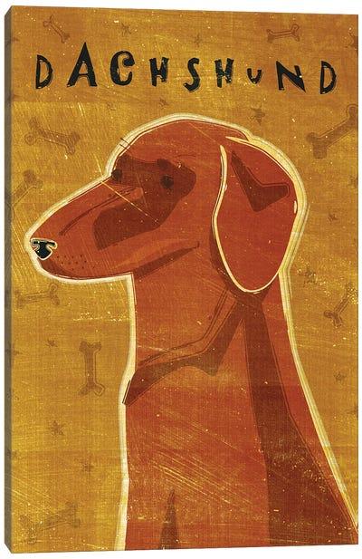 Dachshund - Red Canvas Art Print