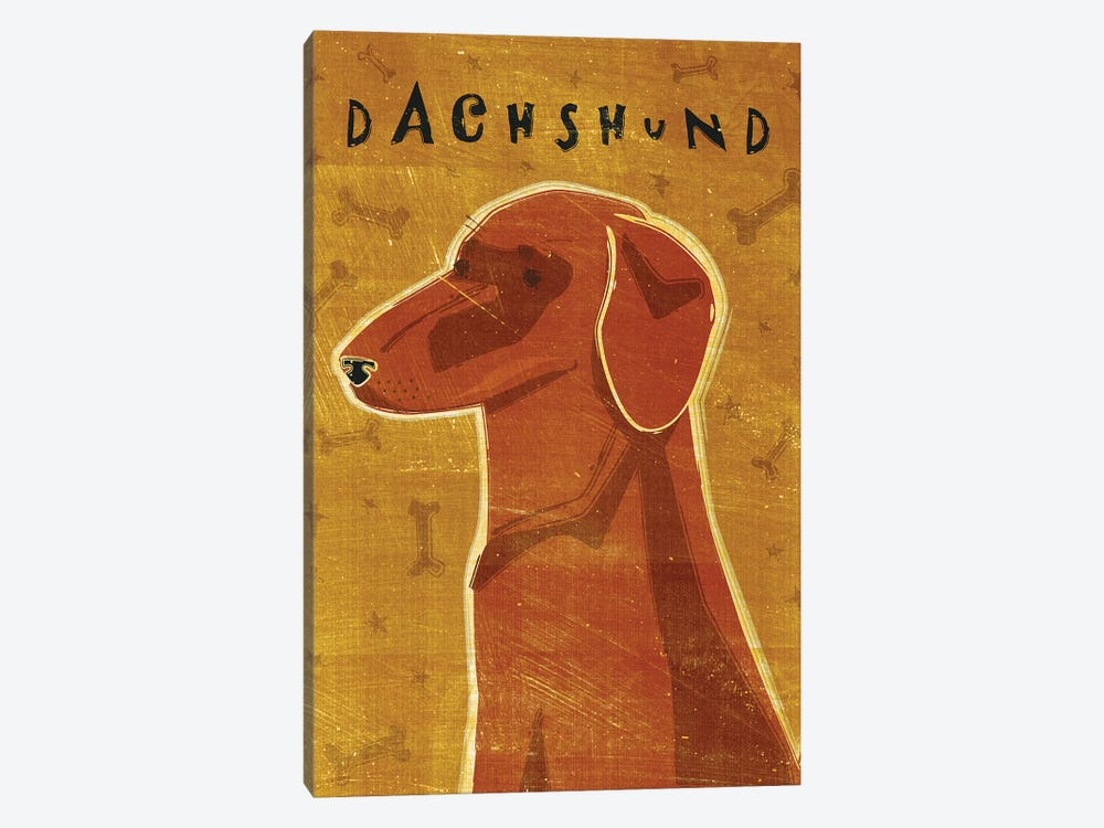 Dachshund - Red by John Golden 1-piece Canvas Print