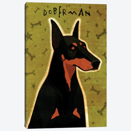 Doberman Canvas Print #GOL67} by John Golden Canvas Art