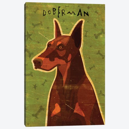 Doberman - Red Canvas Print #GOL68} by John Golden Art Print