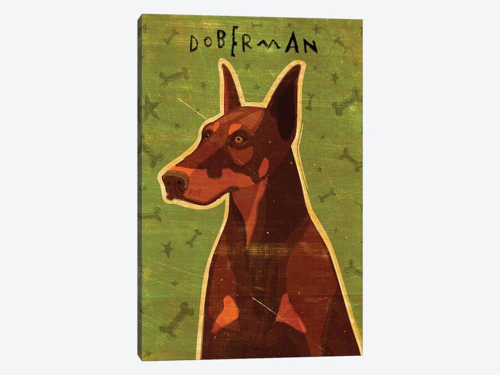 Doberman - Red by John Golden 1-piece Canvas Wall Art
