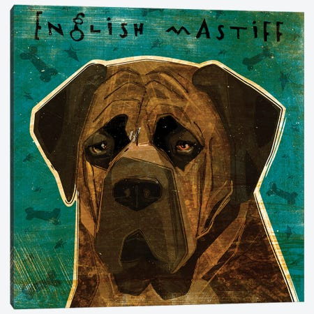 English Mastiff - Brindle Canvas Print #GOL77} by John Golden Art Print