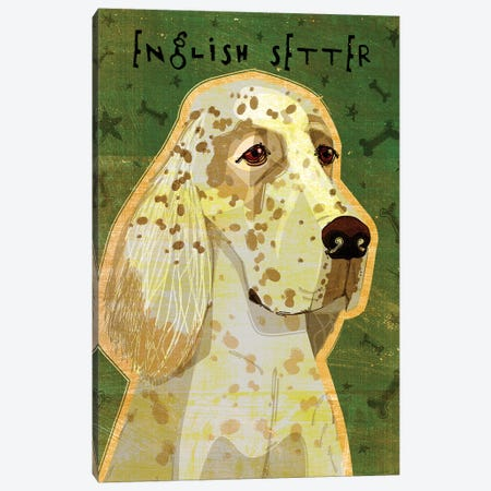 English Setter Canvas Print #GOL78} by John Golden Canvas Artwork