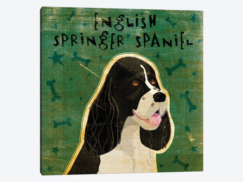 English Springer Spaniel - Black & White by John Golden 1-piece Canvas Art