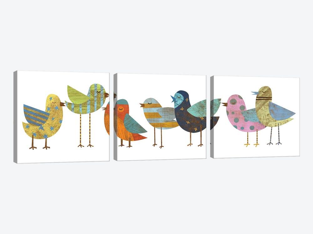 Flock I by John Golden 3-piece Canvas Art Print