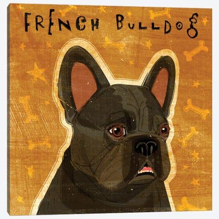 French Bulldog - Black Canvas Print #GOL90} by John Golden Canvas Art