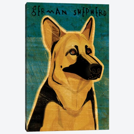 German Shepherd Canvas Print #GOL98} by John Golden Canvas Artwork