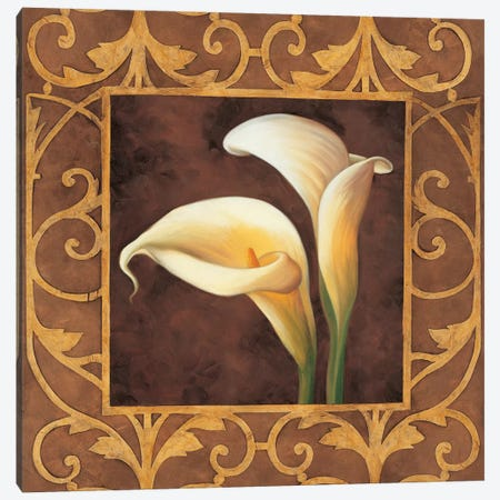 Ornamental Callas Canvas Print #GON4} by Andres Gonzales Canvas Artwork