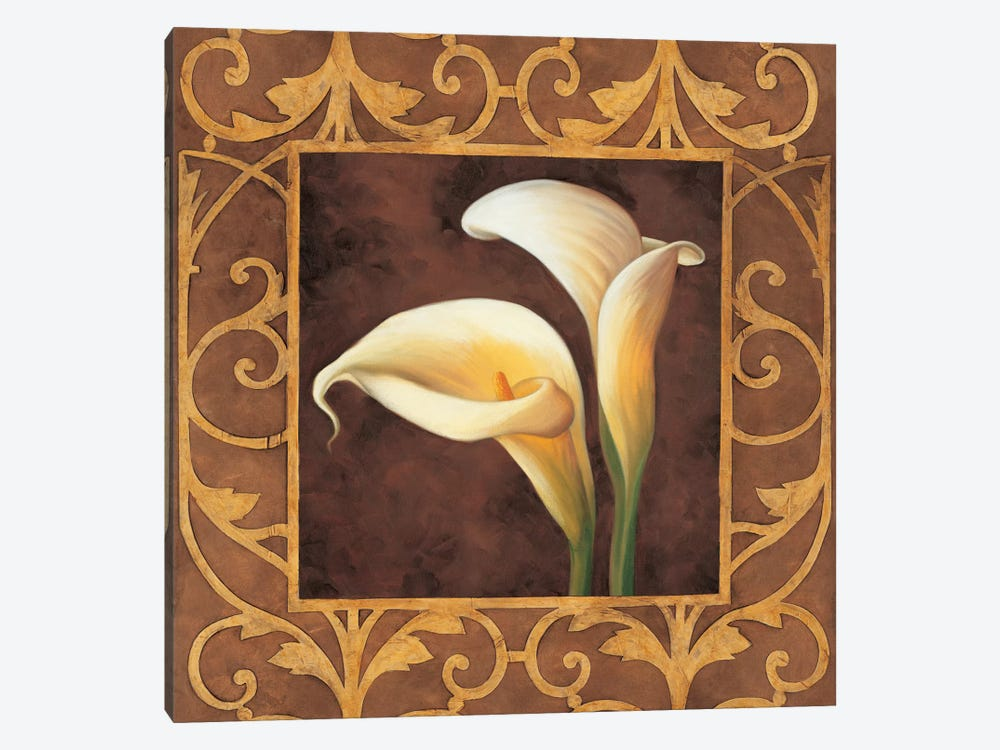 Ornamental Callas by Andres Gonzales 1-piece Canvas Art Print