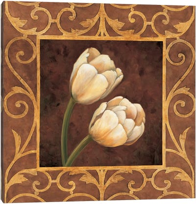 Ornamental Tulips Canvas Art Print