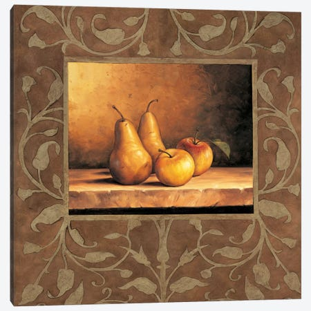 Pears And Apples Canvas Print #GON6} by Andres Gonzales Canvas Art