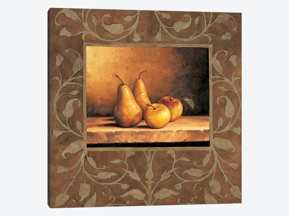 Pears And Apples by Andres Gonzales 1-piece Canvas Print