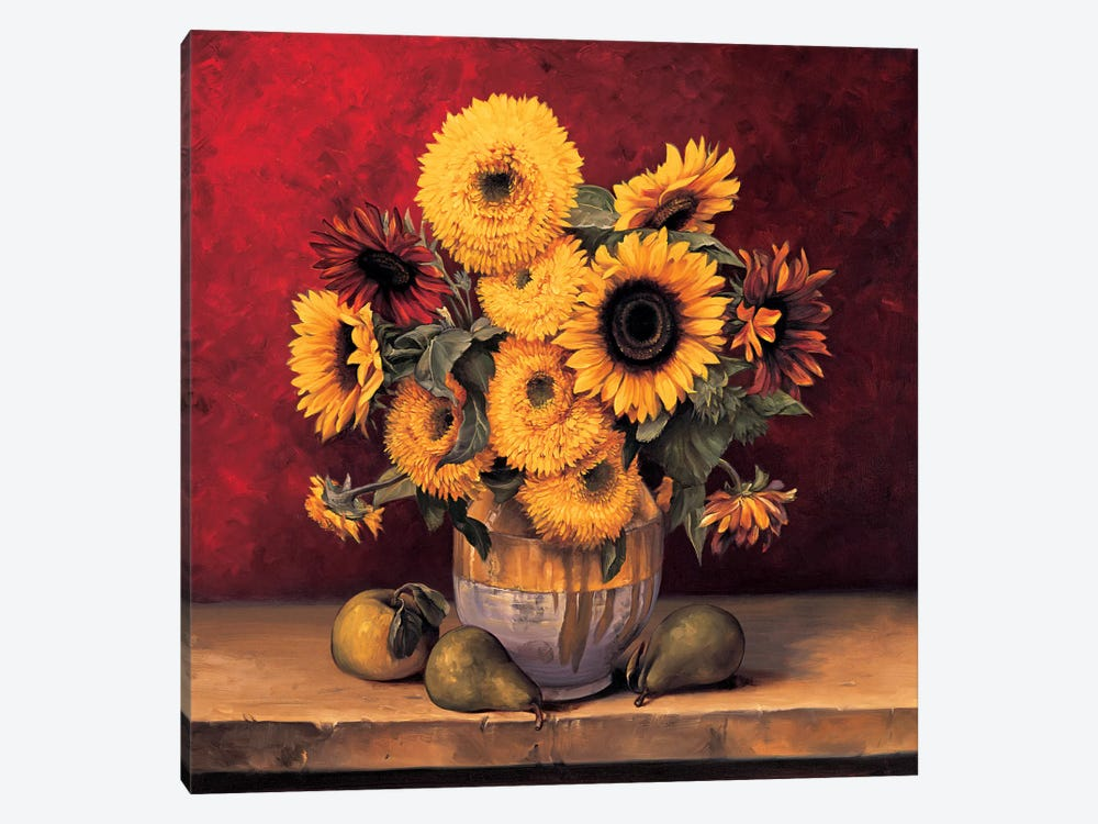 Sunflowers With Pears by Andres Gonzales 1-piece Canvas Artwork