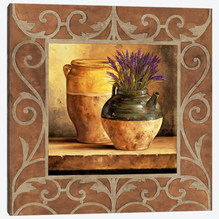 Vases With Lavender Canvas Print #GON9} by Andres Gonzales Art Print
