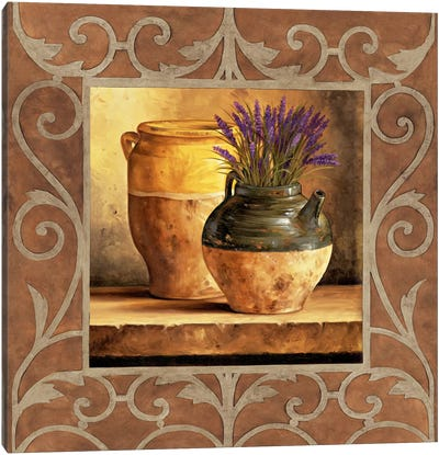 Vases With Lavender Canvas Art Print