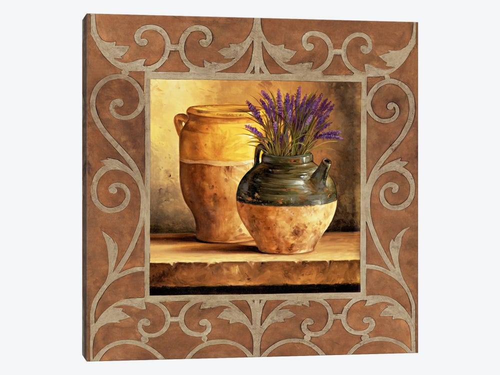 Vases With Lavender by Andres Gonzales 1-piece Canvas Artwork