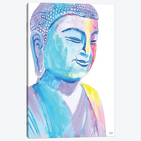 More Vibrant Buddha Canvas Print #GOO3} by Chelsea Goodrich Canvas Wall Art