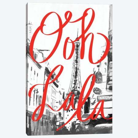 Ooh La La 3-Piece Canvas #GOO4} by Chelsea Goodrich Canvas Art Print