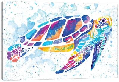 Vibrant Sea Turtle Canvas Art Print