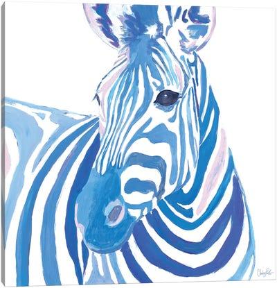 Vibrant Zebra Canvas Art Print