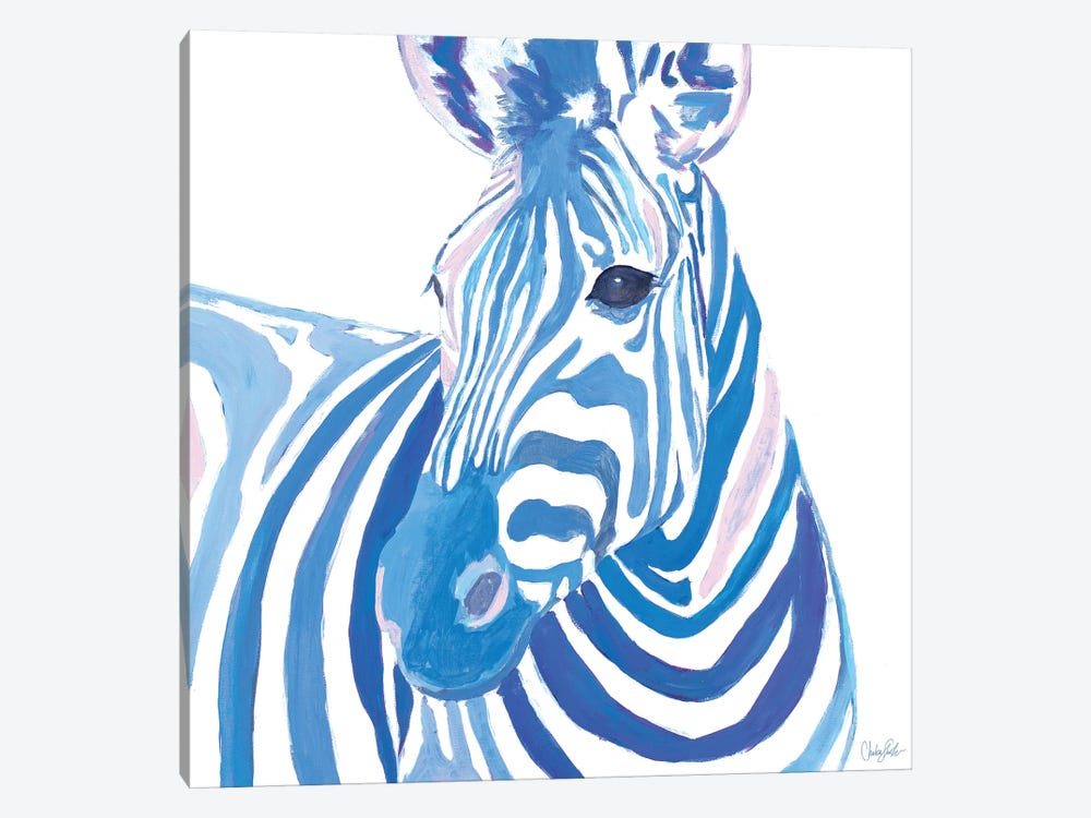 Vibrant Zebra by Chelsea Goodrich 1-piece Canvas Artwork