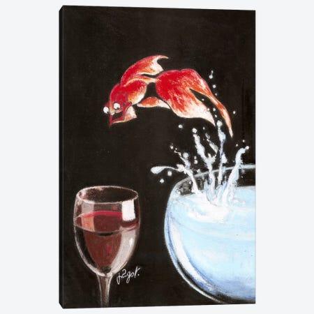 Heureux comme un poisson 3-Piece Canvas #GOT10} by Jean-Pierre Got Canvas Artwork