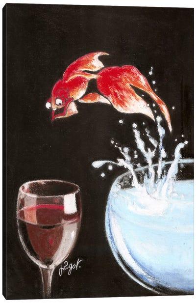 Heureux comme un poisson Canvas Art Print