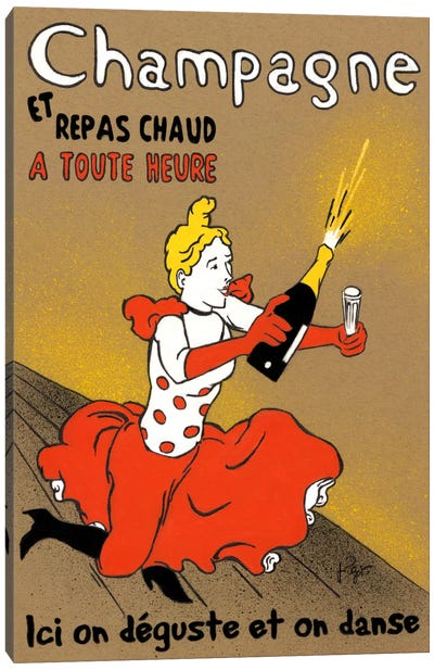 Hommage à Lautrec Canvas Art Print