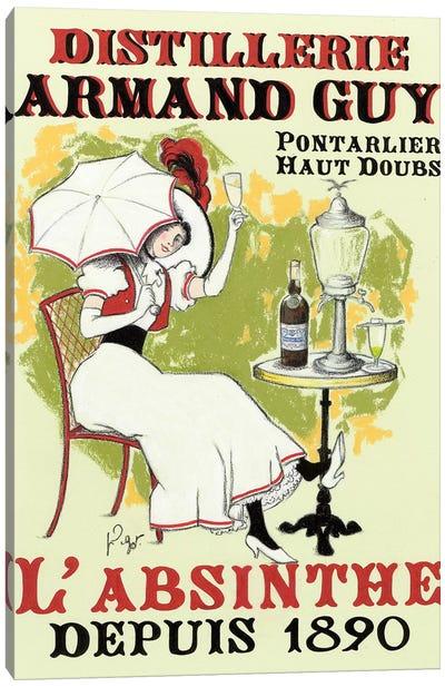 La Dame à l'ombrelle Canvas Art Print