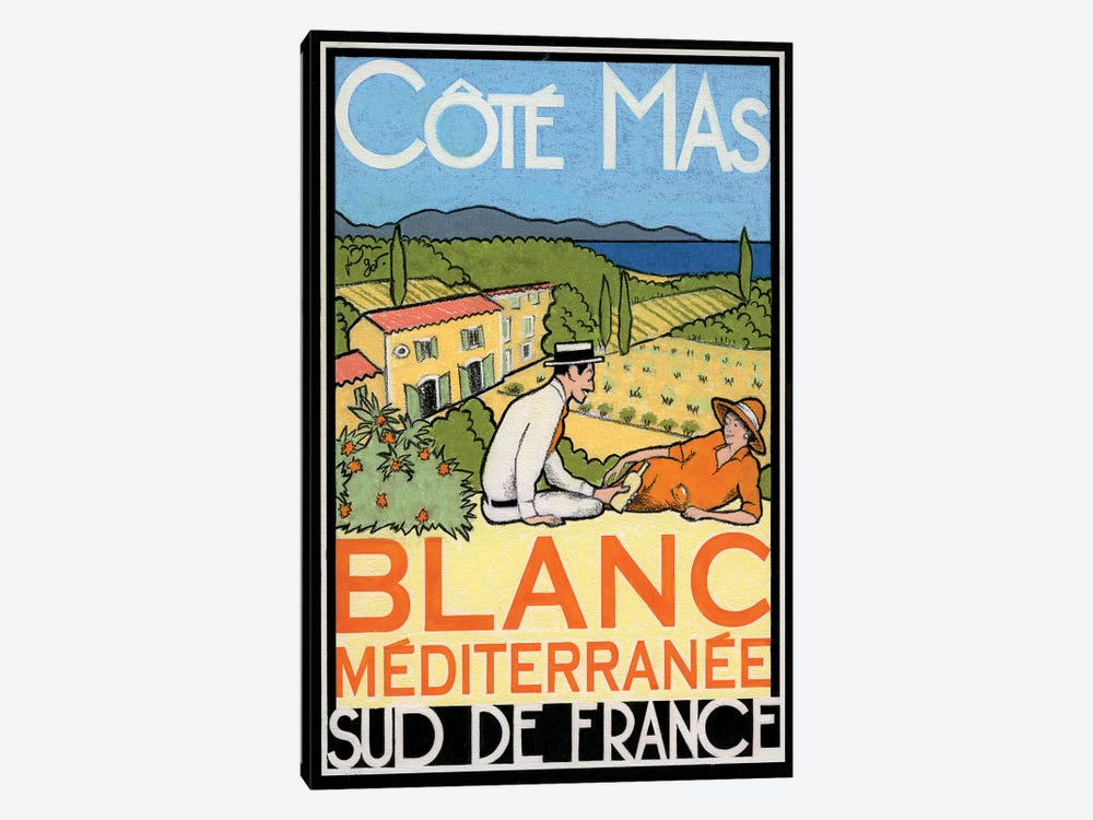 Blanc Méditerranée by Jean-Pierre Got 1-piece Canvas Art