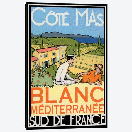 Blanc Méditerranée Canvas Print #GOT1} by Jean-Pierre Got Canvas Artwork