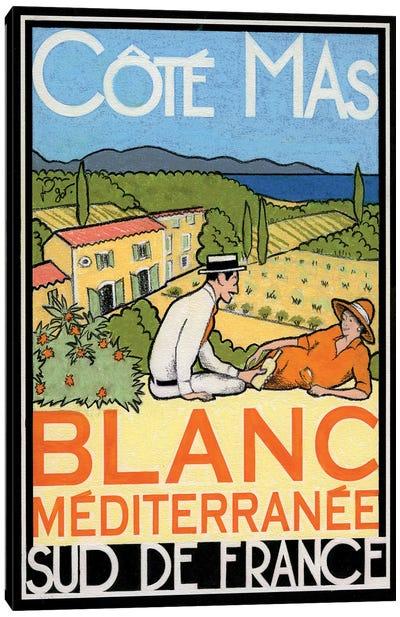 Blanc Méditerranée Canvas Art Print