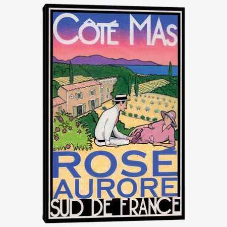 Rosé Aurore Canvas Print #GOT22} by Jean-Pierre Got Canvas Art Print