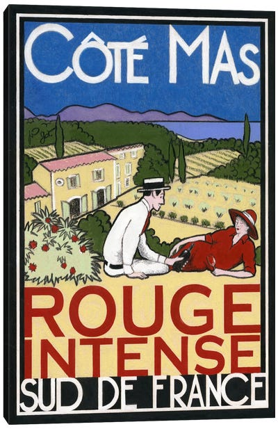 Rouge Intense Canvas Art Print