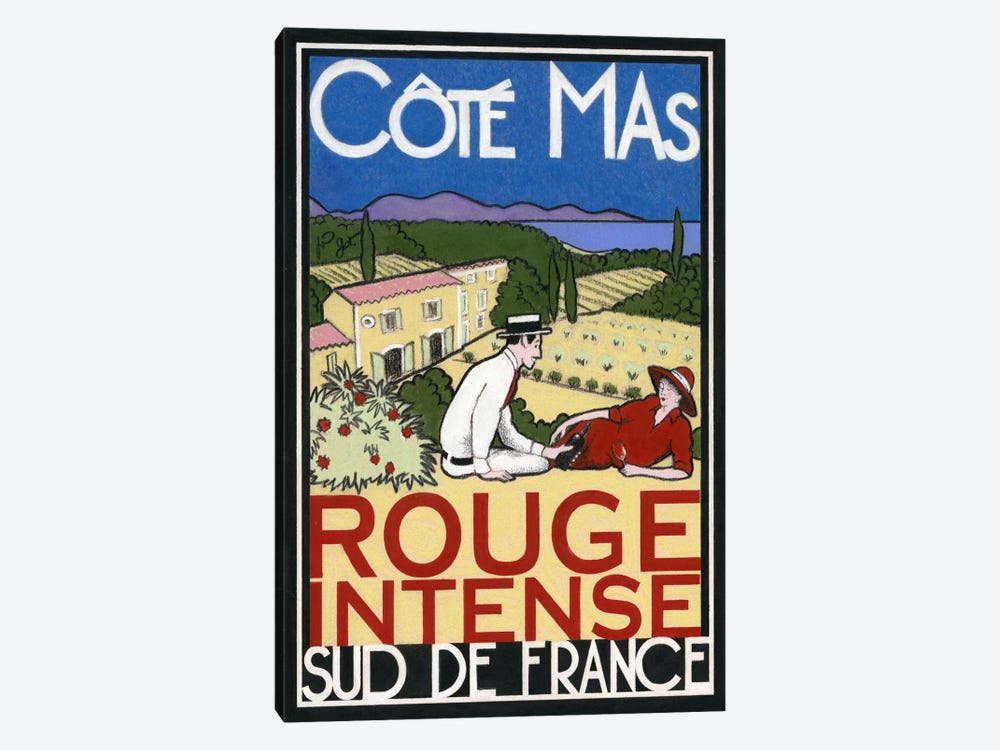 Rouge Intense by Jean-Pierre Got 1-piece Canvas Art Print