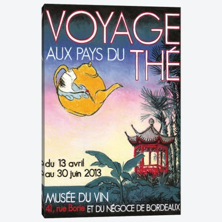 Voyage aux pays des thés Canvas Print #GOT27} by Jean-Pierre Got Canvas Wall Art