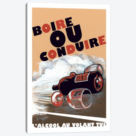 Boire ou Conduire Canvas Print #GOT2} by Jean-Pierre Got Canvas Artwork