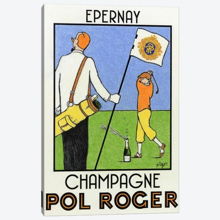 Champagne Practice Canvas Print #GOT4} by Jean-Pierre Got Canvas Art Print