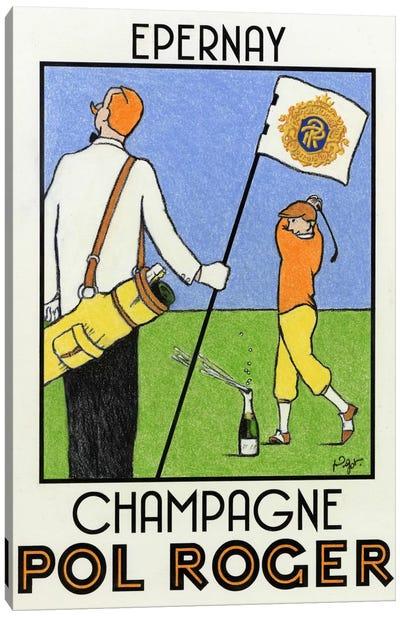 Champagne Practice Canvas Art Print