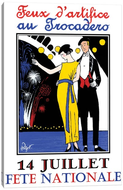 Feux d'artifice Canvas Art Print