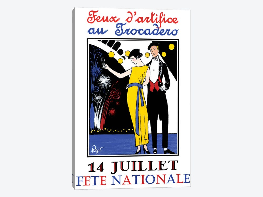 Feux d'artifice by Jean-Pierre Got 1-piece Canvas Wall Art