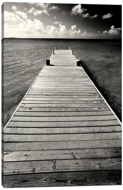 Jetty Perspective, Georgetown, Grand Cayman Island, British West Indies Canvas Art Print